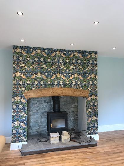 Wall papering and painting St. Donats Vale of Glamorgan